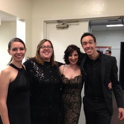 NCSA Alum backstage at Lisner Auditorium before a Pan American Symphony Concert.