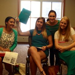 So much teal at auditions!