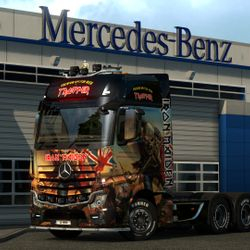Iron Maiden Trooper Beer Mercedes 2014 Actros Mod
