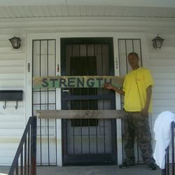 In New Orleans helping with the relief of Hurricane Katrina.