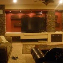 Living Room-Stone Veneer