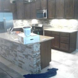Kitchen- Addition of Stone Veneer