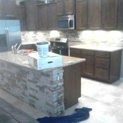 Kitchen- Addition of Stone Veneer