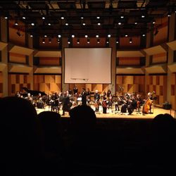 "Taking a bow during the premiere of ""Wilujeng"" at McGill University (Montreal, 2015)."