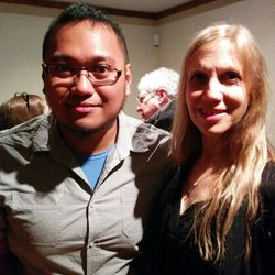 Me and composer Linda Catlin Smith (Toronto, 2017).