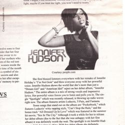 Spotlight on Jennifer Hudson Music Review; The Carlow Chronicle