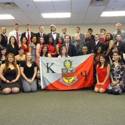 The Brothers of Delta Omega after initiation of the Theta Class