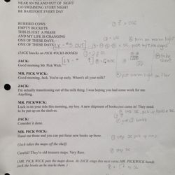 """Rehearsal Script - """"Jack and the Giant"""""""