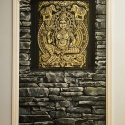 Gorgeous trompe l'oeil at Ashtanga Yoga Center in Nags Head