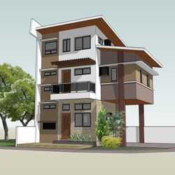 Three-storey Private Residence in Kawit, Cavite Option 1