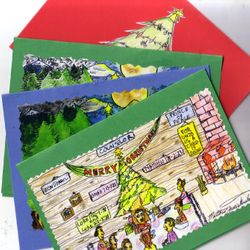 Here are the Christmas Designs Type of 2009 (top), 2012's (two middle), and 2010 (bottom). They are $2.00 each with discounts of quantity exceeding 29 cards.