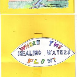 This is KCP1 (Kenslow Cards Pop-up 1) for $4.00. Ezekiel 47: 'Where the Healing Waters Flow.'