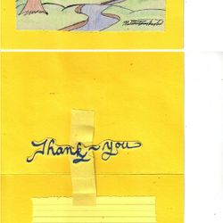 """This is KCP2 (Kenslow Cards Pop-up 2) for $4.00. Every pop-up is custom made to say """"Thank-you"""" """"Congratulation Jimmy"""" """"Happy Anniversary Mr. and Mrs. White"""" et cetera. However, I WILL NOT take request to draw designs or write a custom made pop-up card regarding anything profane, inappropriateness, or anything in that nature."""