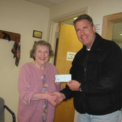 Donation to the Full Shelf Food Pantry, not pictured the big check