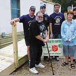 Salvation Army wheel chair ramp project.