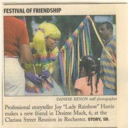 Lady Rainbow makes news.