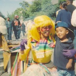 Lady Rainbow with a friend at the Clarissa Street Reunion in Rochester NY