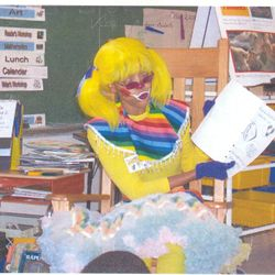 Lady Rainbow with Pre-K class at #57 School in Rochester NY