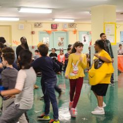 Students dance during our Dance Contest at our Halloween Party