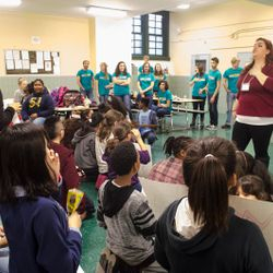 Ms.Stephanie introduces AOTA to LeAp students