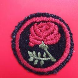 Red Rose darkgreen +red