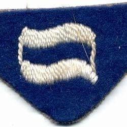 Semaphore (morse flag, blue felt)