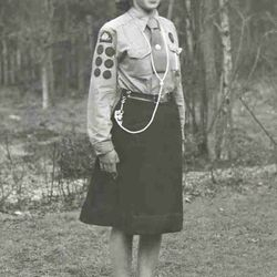 1950s Girl Guide uniform