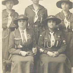 Senior Guides with their leader - 1917