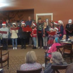 Caroling at a nursing home