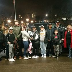 Our CHI group at the Winterhawks game