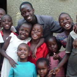 Pastor Hassan showing love to some of the children.