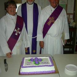 Pr. Chris and our deacons.