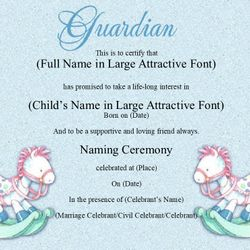 17 Baby Naming Rocking Horse Certificates