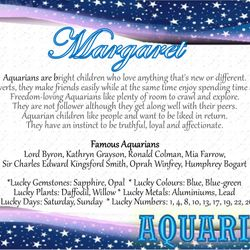 Baby Horoscope Certificate - Starry sky theme
