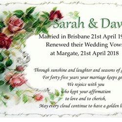 Vows & Wedding Anniversary Certificate