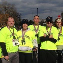 Madison County EMD Running Team at the 2013 OSU 4Miler.