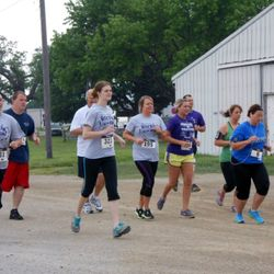 Madison County EMD Running Team at 2013 Rockin' on the Run 5k.