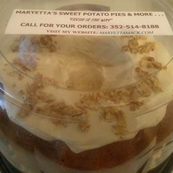 Maryetta Butter Pecan Pound Cake w/Cream Cheese Icing, $16.59