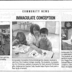 Publicity work published in the Times Picayune.