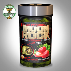 Moon Rocks are a THC megazord—they're essentially cannabis buds (historically GSC, but any strain suffices) dipped in or sprayed with hash oil, then rolled in kief