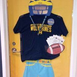 Our submission for the Homecoming Door Decorating Contest. We WON!!!