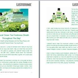 Listerine press release