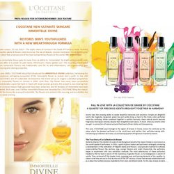 L'occitane press release