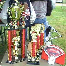 Trophies from a previous year