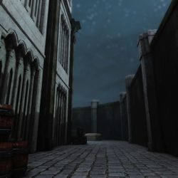 Shot of the side alley in Cathedral.