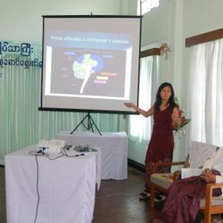 A talk for the care sector at the biggest residential home in Yangon October 2012