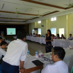 The first day of talks at Yangon Mental Health Hospital October 2012