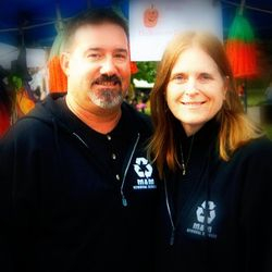 Mike and Mary Williams at Pumpkinfest, downtown Turners Falls, MA