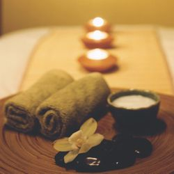 Massage is never complete without candles