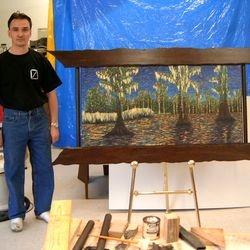 Large cypress frame
